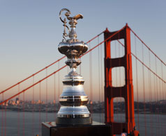 America's Cup and Golden Gate Bridge