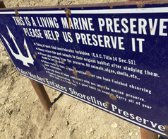 sign at beach